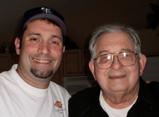 with Dad in 2010