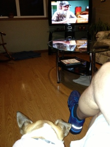 Captain Jack and me watching Duck Dynasty