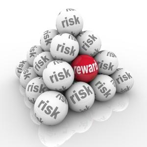 Risk Vs Reward Pyramid Balls Return on Investment